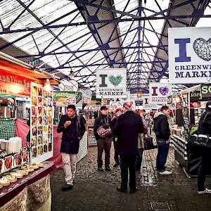 Stalls at Greenwich Market (Photo by Garry Knight)