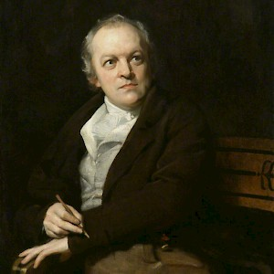 Portrait of William Blake (1807) by Thomas Phillips, in the National Portrait Gallery, London (Photo courtesy of the National Portrait Gallery)