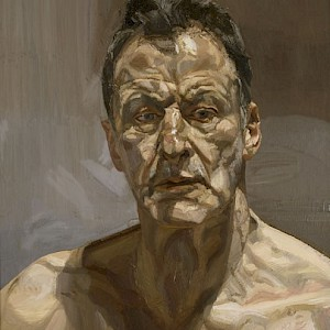Reflection, a self-portrait (1985) of Lucien Freud (Photo courtesy of the National Portrait Gallery, London)